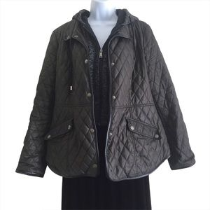 SEBBY Quilted Hooded Jacket Sz L